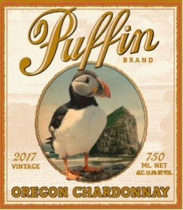 Puffin Chardonnay label